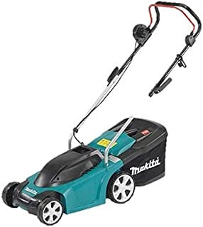 Makita 370mm Turquoise And Black Electric Lawn Mower, Elm3711