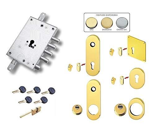 Kit de cerradura completo para puerta blindada de cilindro europeo Kaba Matrix Dibi (placa normal y Defender normal)