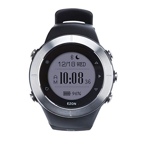 ランニングウォッチ GPS 心拍計 防水 Bluetooth搭載 歩数計活動量計 着信通知 専用日本語アプリ対応 EZONT957B01