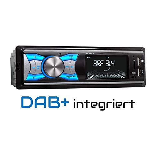 XOMAX XM-RD264 Autoradio mit DAB+ Tuner und Antenne, RDS, Bluetooth Freisprecheinrichtung, USB, SD, MP3, Aux-IN, 1 Din