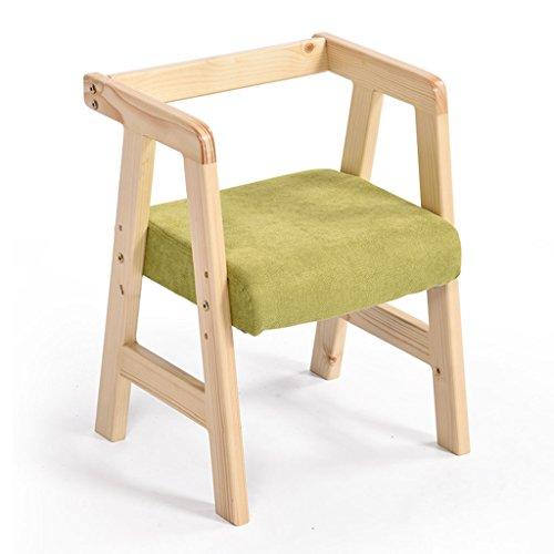 Salle à manger Chaises Belle Chaise pour Enfants Chaise élévatrice en pin Dossier Apprentissage Chaise de Repas (Color : A Green)