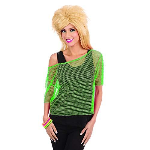 Bristol Novelty Damen Netztop im 80er-Jahre-Stil (Einheitsgröße) (Grün)