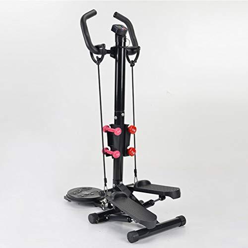 JHSHENGSHI Swing Stepper Indoor Fitness Stair Stepper,Fitness Ajustable Stepper Exercise Machine Cardio Exercise Trainer Disco retorcido con Asas para Principiantes y usuarios avanzados