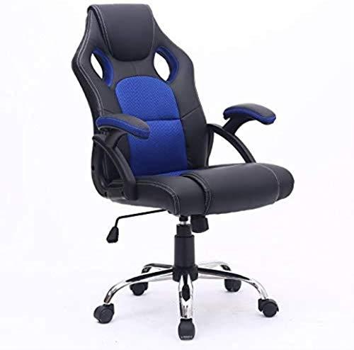 WANGXIAOYUE Silla de Oficina Ejecutiva Racing Gaming Swivel PU Cuero Deporte Información de la computadora Silla de Rodillas (Color : Blue)