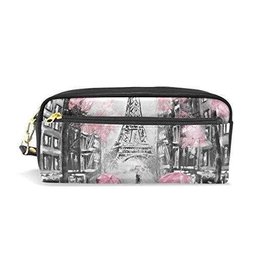 Reißverschlusstasche Geldbörse Stift Schreibwaren Tasche Bleistiftetui Kosmetische Schminktasche Niedlich für Student Boy Girl Brillenetui Ölgemälde Paris Eiffelturm