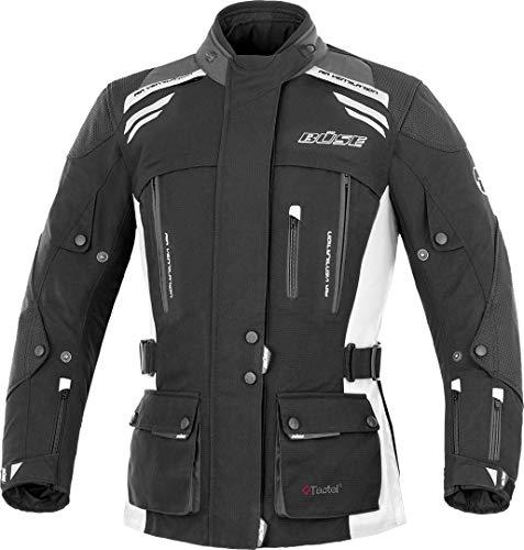 Büse Highland Damen Motorrad Textiljacke 40 Schwarz/Hellgrau