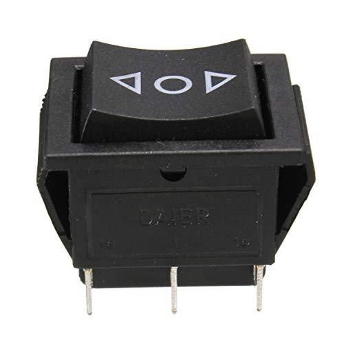YONGYAO Interruptor de Balancín de Momentáneo de Ventana de Potencia Dpdt de 6 Pins de 12 Voltios AC 250V/10A 125V/15A