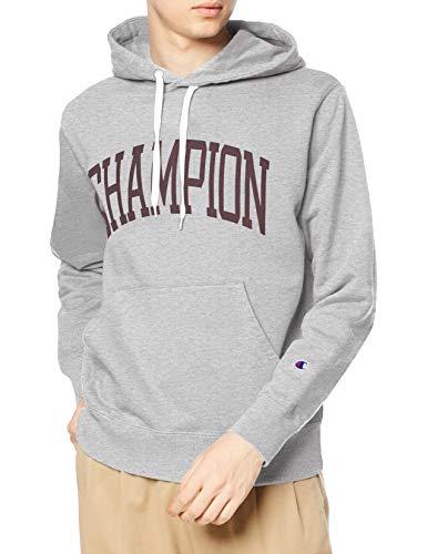 [チャンピオン] パーカー トレーナー 裏毛 長袖 綿100% グラフィックロゴプリント フーデッドスウェットシャツ C3-S112 メンズ オックスフォードグレー M