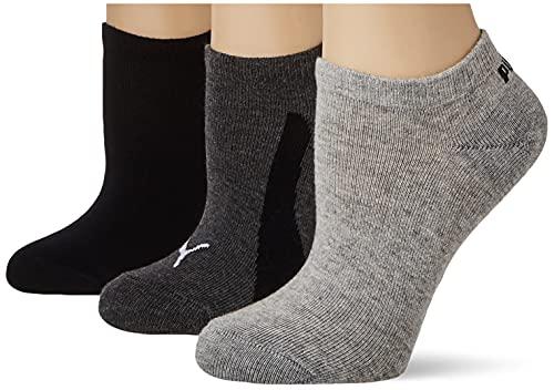 PUMA Unisex-Child Kids' BWT Sneaker-Trainer (3 Pack) Socks, Black, 35/38