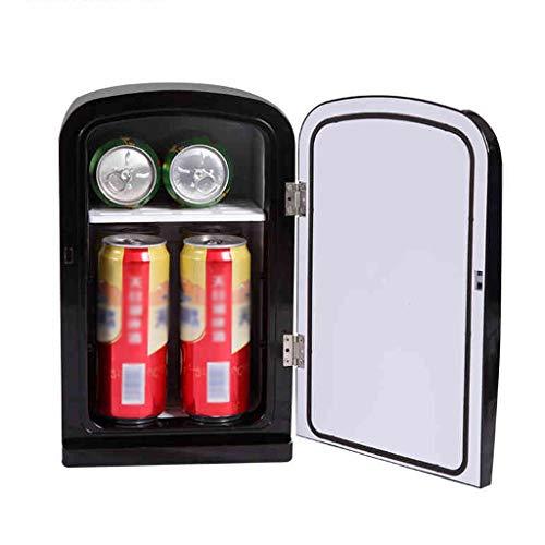 Griff Kühlschrank 6 Liter Auto Studentenwohnheim Mini Gefrierschrank Kaffeemaschine Unterstützung tragbare elektronische Heizung und Kühlung Box Zwei Farben 163 * 140 * 283mm XMJ (Color : Black)