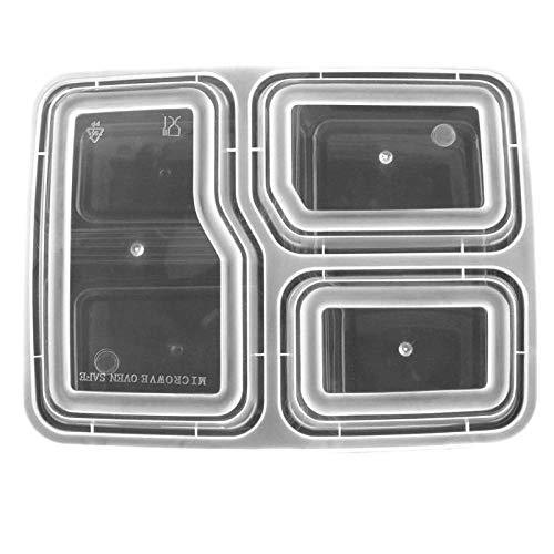 pequeño y compacto UDXW 10 piezas / Fiambrera desechable 3 uds Fiambrera rectangular Fiambrera portátil…