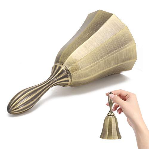 Creative Call Bell, Bar Handbell, Electroplating Hand Bell, Signal Bells Retro Design for Start of Class for Bar Service(Qinggu)