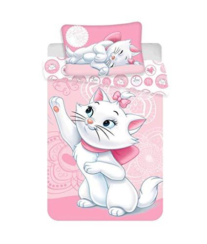 Theonoi Kinderbettwäsche Bettgarnitur Baby Bettwäsche: Kopfkissenbezug: 40 x 60 cm und Bettbezug: 100x 135 cm, Baumwolle - Wählbar: Kitty Marie Bambi - Geschenk für Mädchen (Marie)