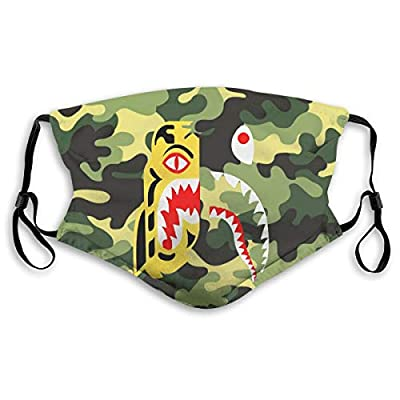 HOTBABYS Bale Shark Reusable Activated Carbon Filter Face Covering with Replaceable Filter for Men Women S