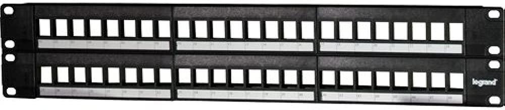 Legrand - On-Q WP48RM 48-Port Blank Keystone Patch Panel