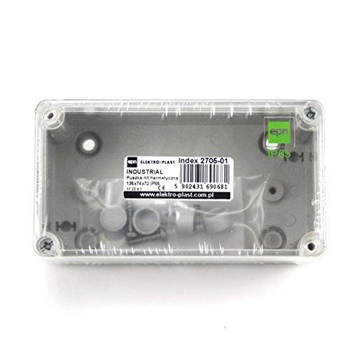 Aufputz Schalkasten IP65 Verteilerkasten 135x74x72 transparent Industrie Gehäuse