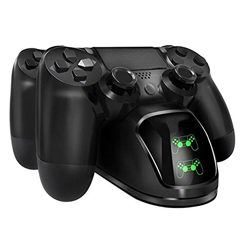 LXCD para Sony PS4 / PS4 Slim / PS4 Pro Controlador Cargador USB Estación de Carga Estación de Carga Estación de Carga Cargador de Doble Soporte