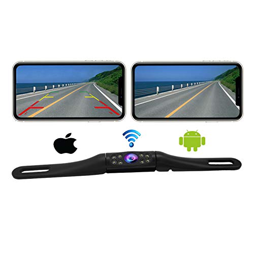 Casoda WiFi Long License Plate Backup Camera for iPhone and
