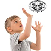 Force1 Hand Operated Drone for Kids or Adults - Scoot Hands Free Mini Drone, Easy Indoor Drone, Small Flying Toys for Boys or Girls (Silver)