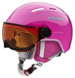 HEAD Maja Visor, Casco da Sci e Snowboard Ragazza, Rosa, XS-S