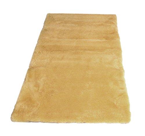 Leibersperger Bettauflage/Betteinlage echtes medizinisches Lammfell Premium Qualität + Fellwaschmittel (70cm x150 cm)