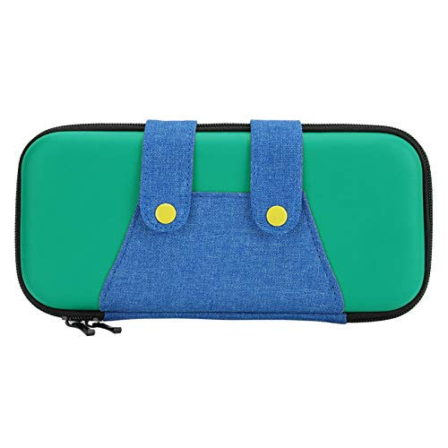 FOLOSAFENAR con Bolsa de Almacenamiento con Cremallera Bolsa para Host de Juegos Mini, para Joy Cons, Cables, Consolas de Juegos, para Switch(Green)