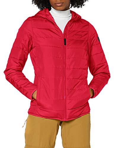 Regatta Damen Women's Helfa Lightweight Insulated Hooded Baffle Quilted Jacket Jacke, Dunkle Kirsche, 38