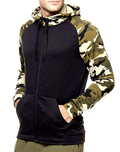 Nike Men's Dry Full Zip Camo Dri Fit Training Fleece Hoodie Sweatshirt (M)