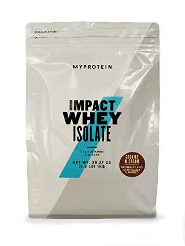 Myprotein® Impact Whey Isolate Protein Powder, Cookies & Cream, 5.5 Lb (100 Servings)