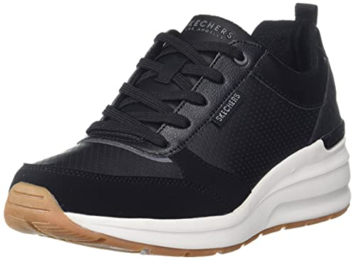 Skechers Damen Billion-Subtle Spots Sneaker, schwarz, 35 EU