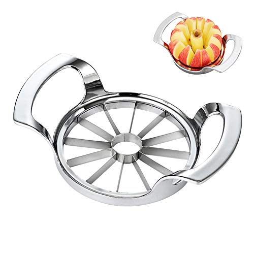 coil-c Upgraded Version 12-Blade Extra Large Apple Corer Peeler,Divider For Up To 4 Inches Apples,Pitter With Ultra-Sharp Blade & Ergonomic Grip Handle For Apple, Pear And Onion