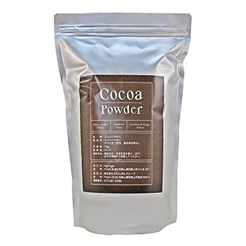 ガーナ産 業務用 ココアパウダー ココア豆100% 大容量 1kg ※フルーツマイスター推奨商品