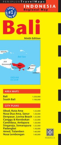 Bali Travel Map (Periplus Travel Maps) [Idioma Inglés]