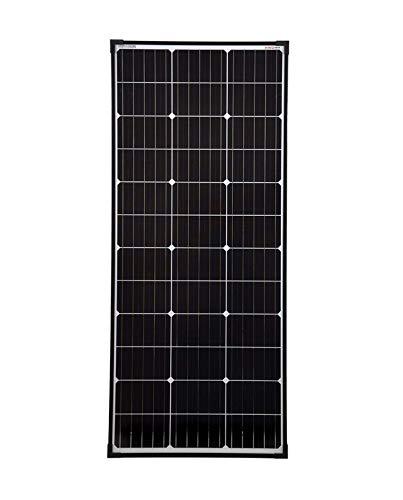 enjoy solar® Mono PERC 110W Monokristallin Solarpanel Solarmodul 12V ideal für Wohnmobil, Gartenhäuse, Boot