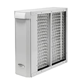 """Aprilaire 2410 Whole-Home Air Cleaner 1 Traps 98% of visible airborne dust and other large particles Permanently captures at least 97% of airborne pollen-sized particles Provides more than 30 times the filtering media used in standard 1"""" furnace filters"""