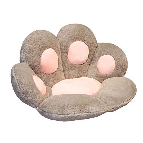 Ocio Forma de garra de gato Cojín de asiento Sofá perezoso Alfombrilla cálida y agradable para la piel Asiento de la silla del piso para la casa Cojines para mascotas Adultos y niños Interior Exterior