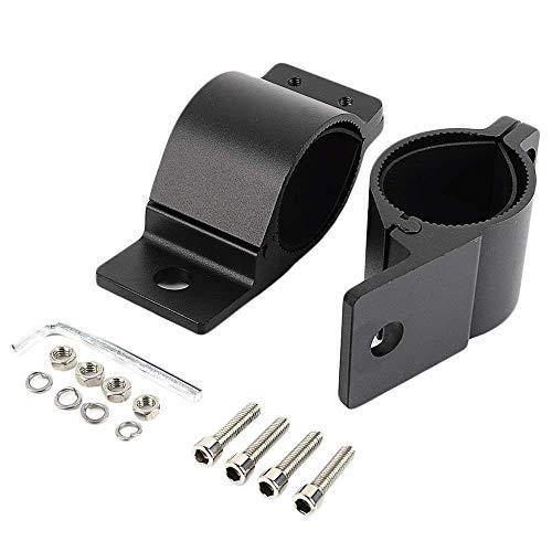 lecimo 2pcs 49mm-54mm Motorcycle Fork Clamps, Headlight Bracket Turn Signal Light Mount Holder