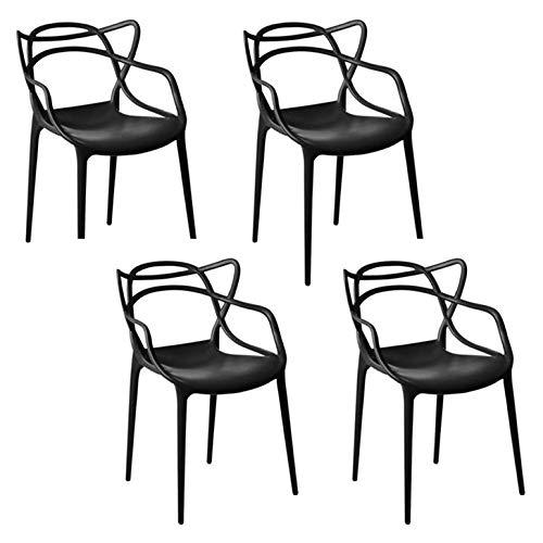 Kit 04 Cadeira Allegra Sala de Jantar Preto - D'Rossi