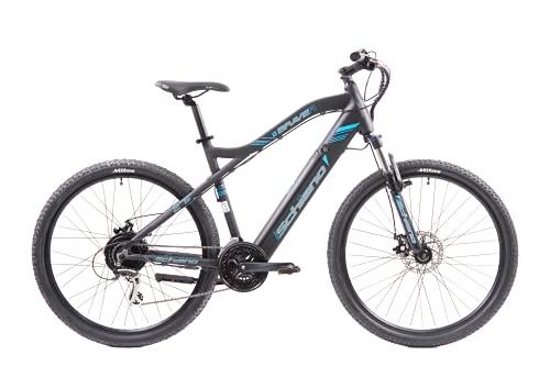 F.lli Schiano Braver Bicicleta eléctrica, Adultos Unisex, Negro-Azul, 27.5