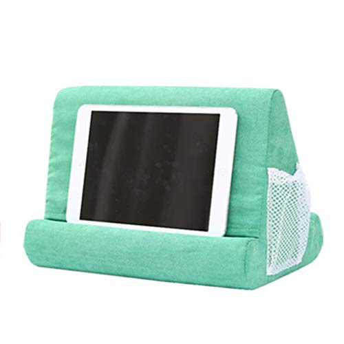 S-TROUBLE Multi-Angle Soft Cotton Stand Holder Lapdesk Rest Cushion with Net Grid Bag Metal Bracket for iPad eReader Magazine Smart Phones Tablet