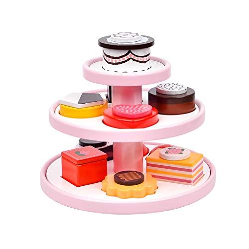 kids toys LHY Juego de Juguetes de Cocina, Utensilios de Cocina de Juguete Accesorios de Cocina Chica Utensilios de Cocina de Postre Corte de Cumpleaños Torta de Moda