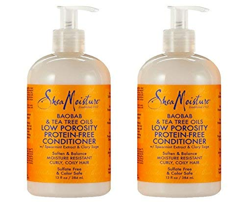 Shea Moisture Baobab & Tea Tree Oils Low Porosity Protein-Free Conditioner, 13 Ounce