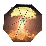 Bomba de hidrógeno explosionó seta viaje paraguas plegable portátil compacto ligero diseño automático y alta resistencia al viento