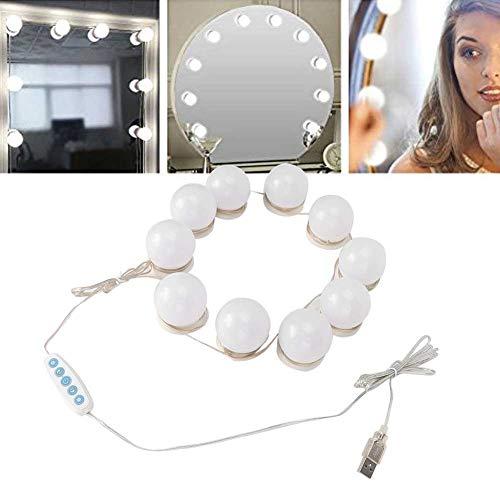 10PCS USB LED Kosmetikspiegel Lichter, dimmbare und pasteable Make-up Glühbirnen für Make-up Tisch Badezimmer Ankleideraum Spiegel