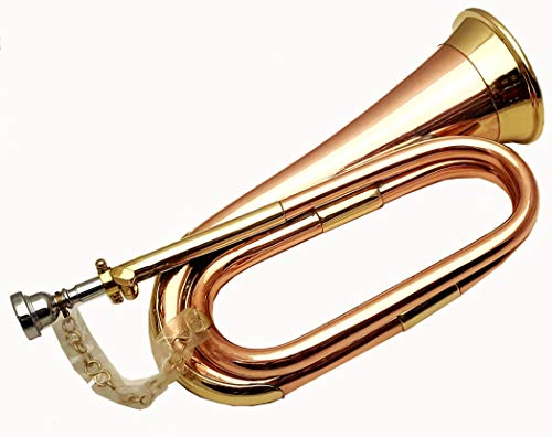 Quality Professional Army Bb Bugle Two Tone Tune Able Bugle.