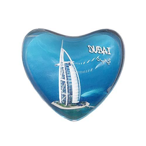 3D Burj Al Arab Dubai Refrigerador Imán de Nevera Imán de Cristal de Cristal Viaje Turístico Recuerdo Colección Regalo Etiqueta Magnética Inicio Decoración de la Cocina