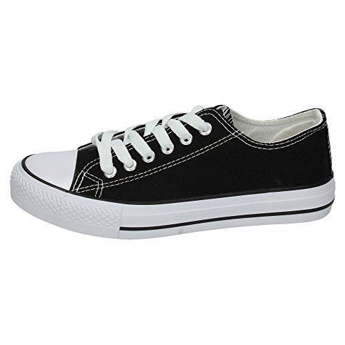 DEMAX 7-A1612K-12 Lonas Negras DEMAX Mujer Zapatillas Negro 38