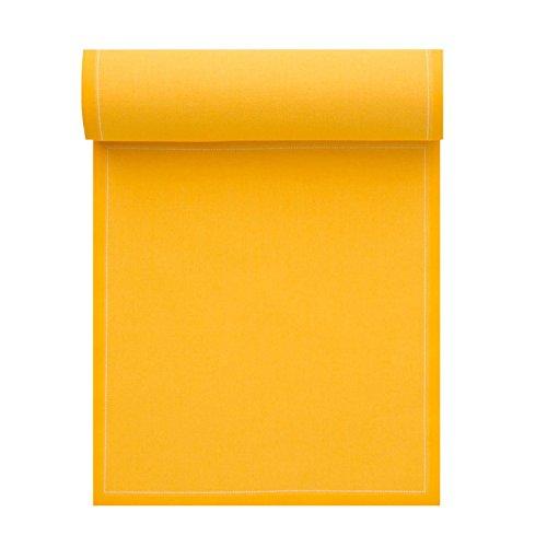MY DRAP Coton Serviettes de Table – 12,6 x 12,6 en – 12 unités par Rouleau – Ocre
