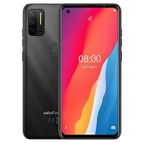 Android 11 Smartphone Offerta, Ulefone NOTE 11P 4G Cellulare, Helio P60 Octa-core 8GB+128GB, DUAL SIM+Dedicata SD Estensione 2TB, Fotocamera Quattro 48MP, Impronta Digitale,Schermo HD+ 6,55'',Nero