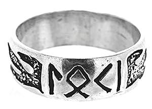 Kiss of Leather Fingerring Loki aus 925 Sterling Silber, Gr. 52-74 (52 (16.6))